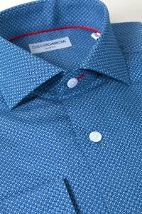 Portofino geometric printed casual shirt / Extra Long