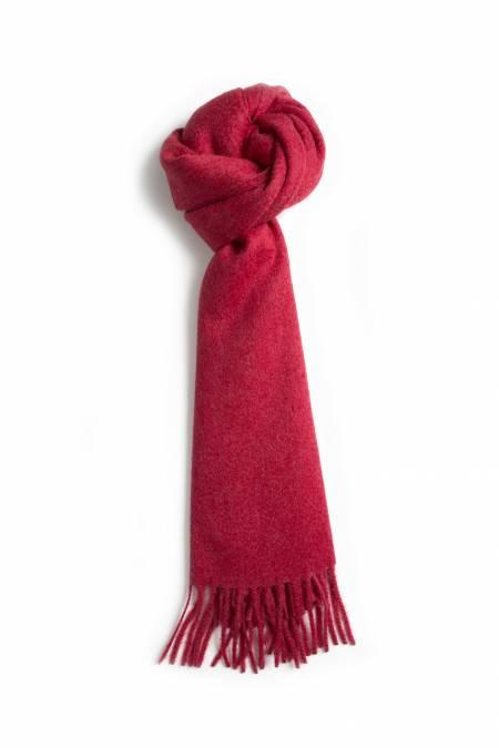 Classic poppy fringed cashmere scarf