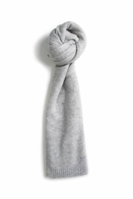 ce398ed1d224 Écharpe cachemire tricotée argent