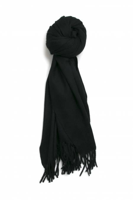 Black fringed cashmere stole