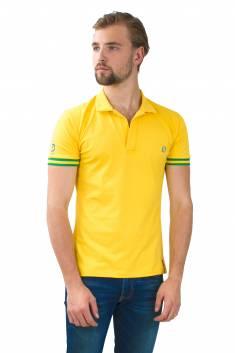 Rio - Polo coton piqué bicolore jaune/vert