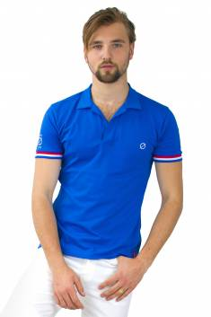Paris tricolor polo shirt
