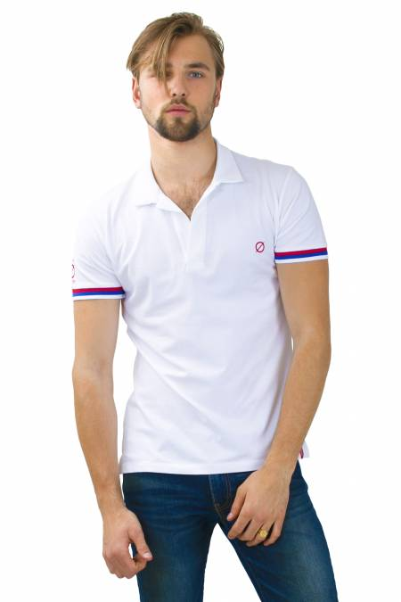 Moscow tricolor polo shirt