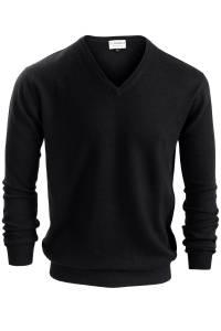 Black V neck cashmere sweater