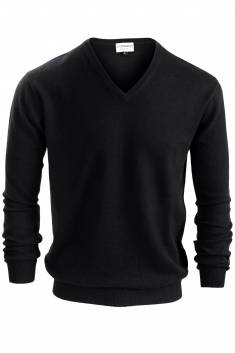 Black V neck cashmere sweater