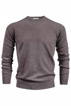 Pull Homme Cachemire cacao col rond