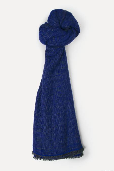 Large blue / gray cashmere blend scarf
