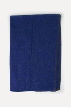 Grande échapre cachemire mélangé bleu/gris