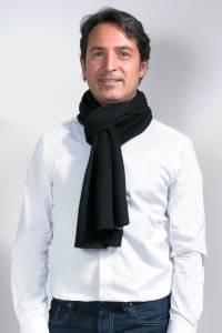 Écharpe cachemire tricotée noire