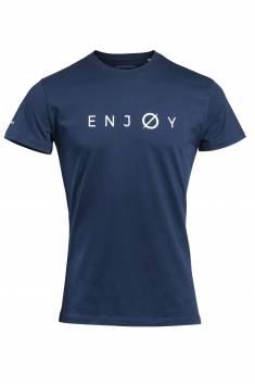 Navy round neck t-shirt Enjoy