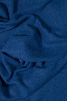 Night blue knitted cashmere scarf