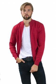 Poppy cashmere cardigan zip
