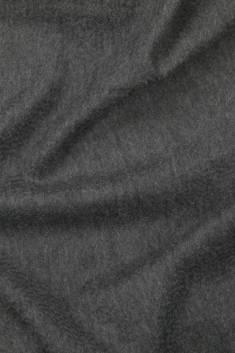 Étole cachemire gris foncé à franges