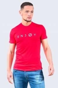 T-shirt à message col rond