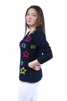 Pull Cachemire light étoiles