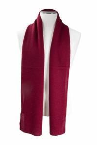 Écharpe cachemire tricotée rouge feu