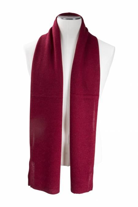 Écharpe cachemire tricotée rouge feu d298b6f59ad