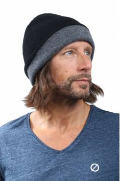4-yarns reversible cashmere beanie