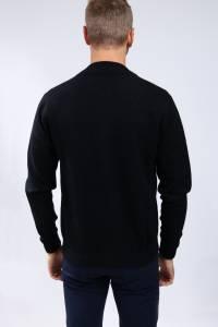 Black cashmere bombers vest