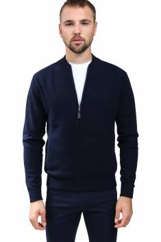 Navy cashmere bombers vest