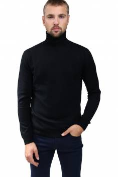Black cashmere sweater turtleneck