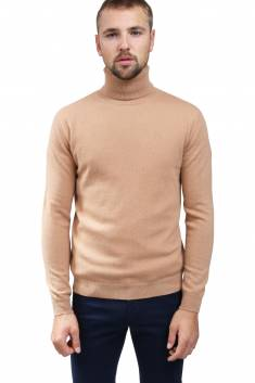 Caramel cashmere sweater turtleneck