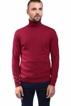 Burgundy cashmere sweater turtleneck