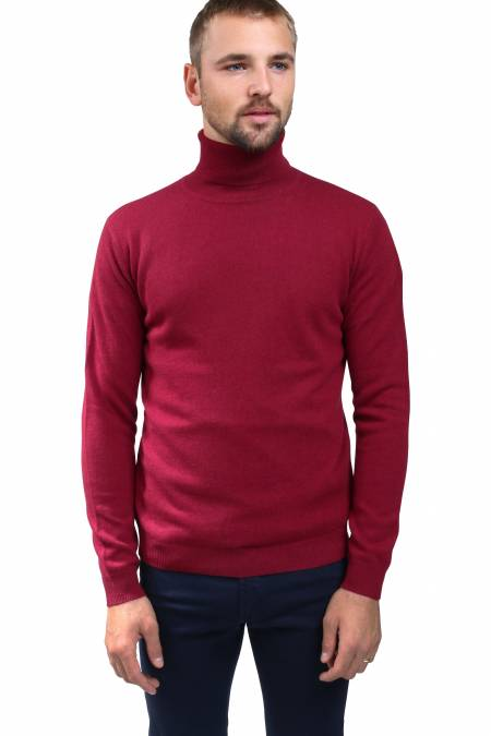 Burgundy cashmere sweater turtleneck