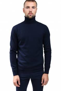 Navy cashmere sweater turtleneck