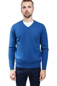 4 yarns cashmere V-neck sweater