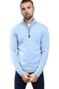 Double-neck cashmere crew-neck sweater
