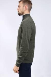 Double-neck cashmere crew-neck sweater