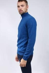 Cashmere zipper trucker sweater