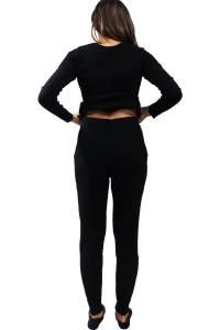 Legging cachmire sport noir