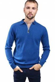Night blue Cashmere polo