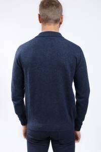 Slate blue cashmere polo