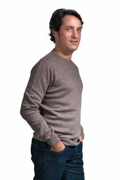 Men's round neck cashmere sweater