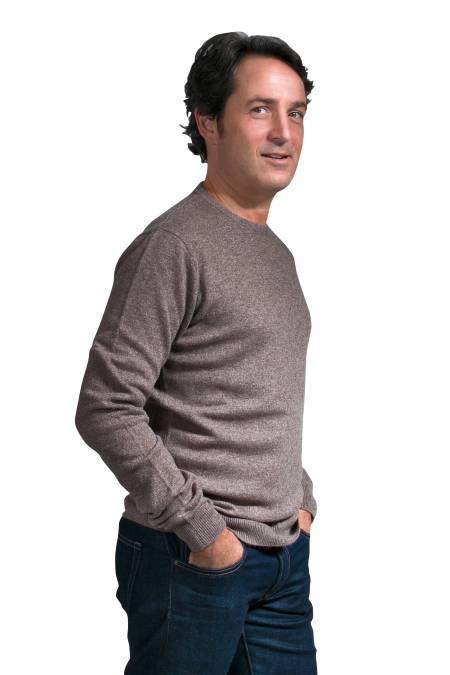 Men's round neck cashmere sweater