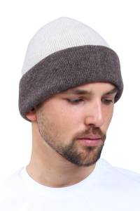 4-yarns reversible cashmere beanie