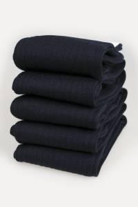 5 X Pairs of navy Merino Men's High Socks