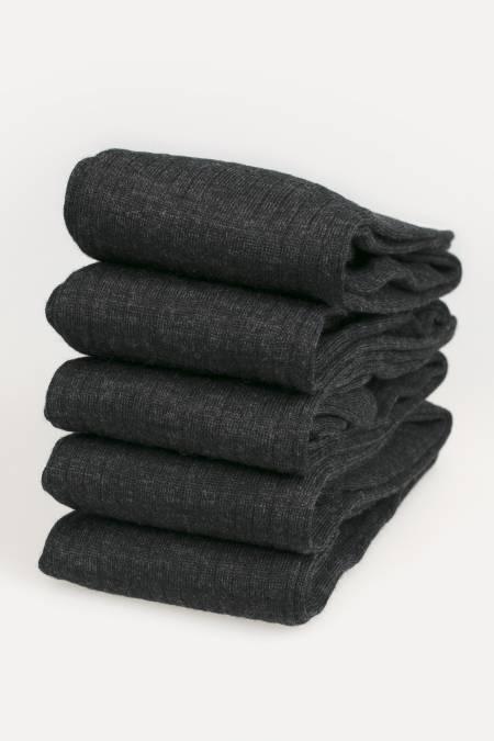 5 X Paires de chaussettes hautes Homme Mérinos