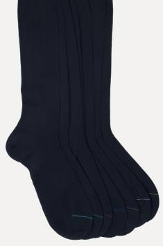 5 X Pairs of navy scottish yarn Men's High Socks