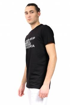 Black organic cotton fitted-cut T-shirt