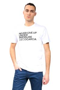 White organic cotton fitted-cut T-shirt